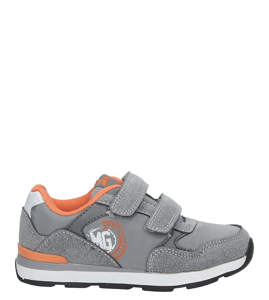 Szare buty sportowe na rzepy  American BS-C2909