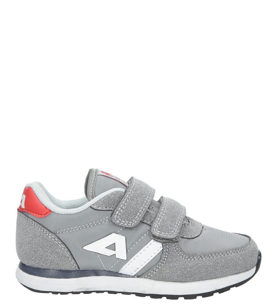 Szare buty sportowe na rzepy  American BS-C2922