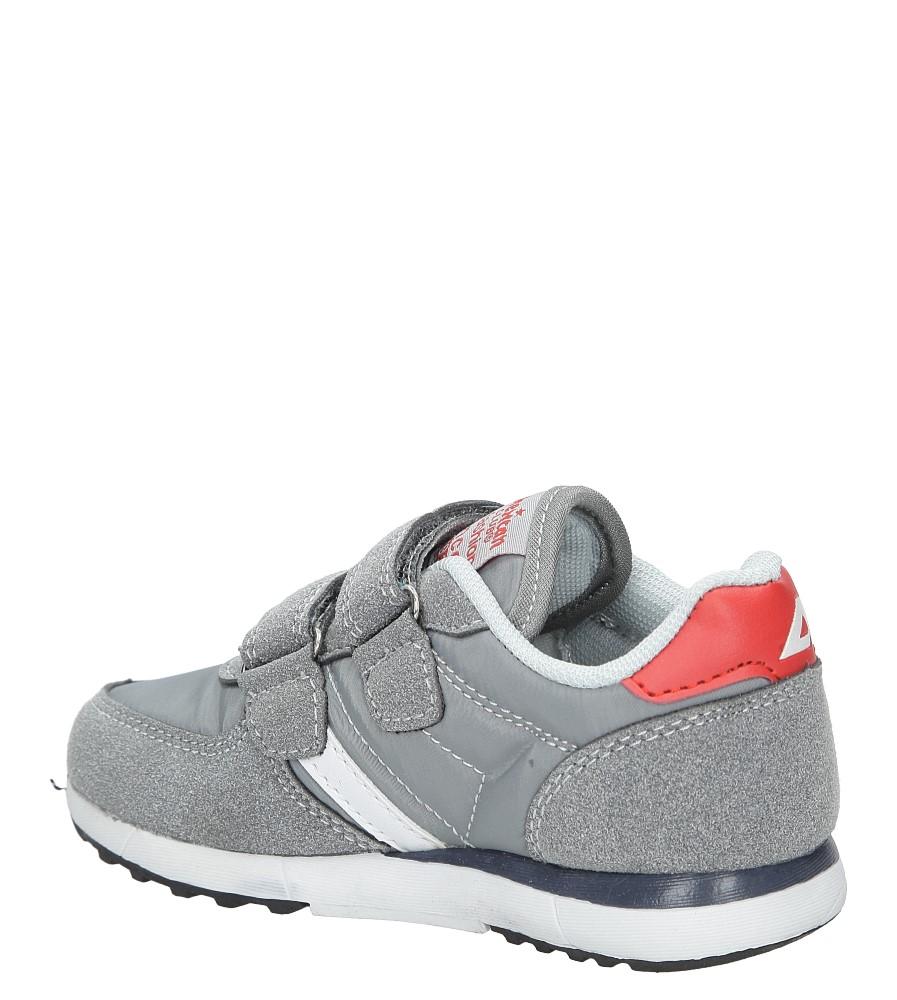 33ba333a8c0ba2 Obuwie dla chłopca Szare buty sportowe na rzepy American BS-C2922 ...