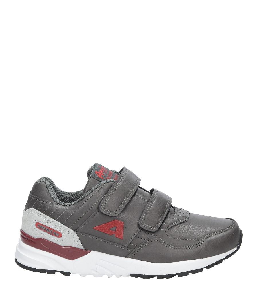 Szare buty sportowe na rzepy  American C3759