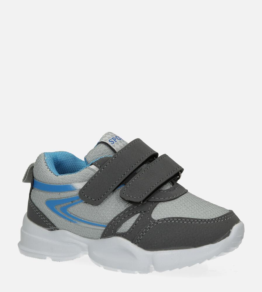 Szare buty sportowe na rzepy Casu 002 szary