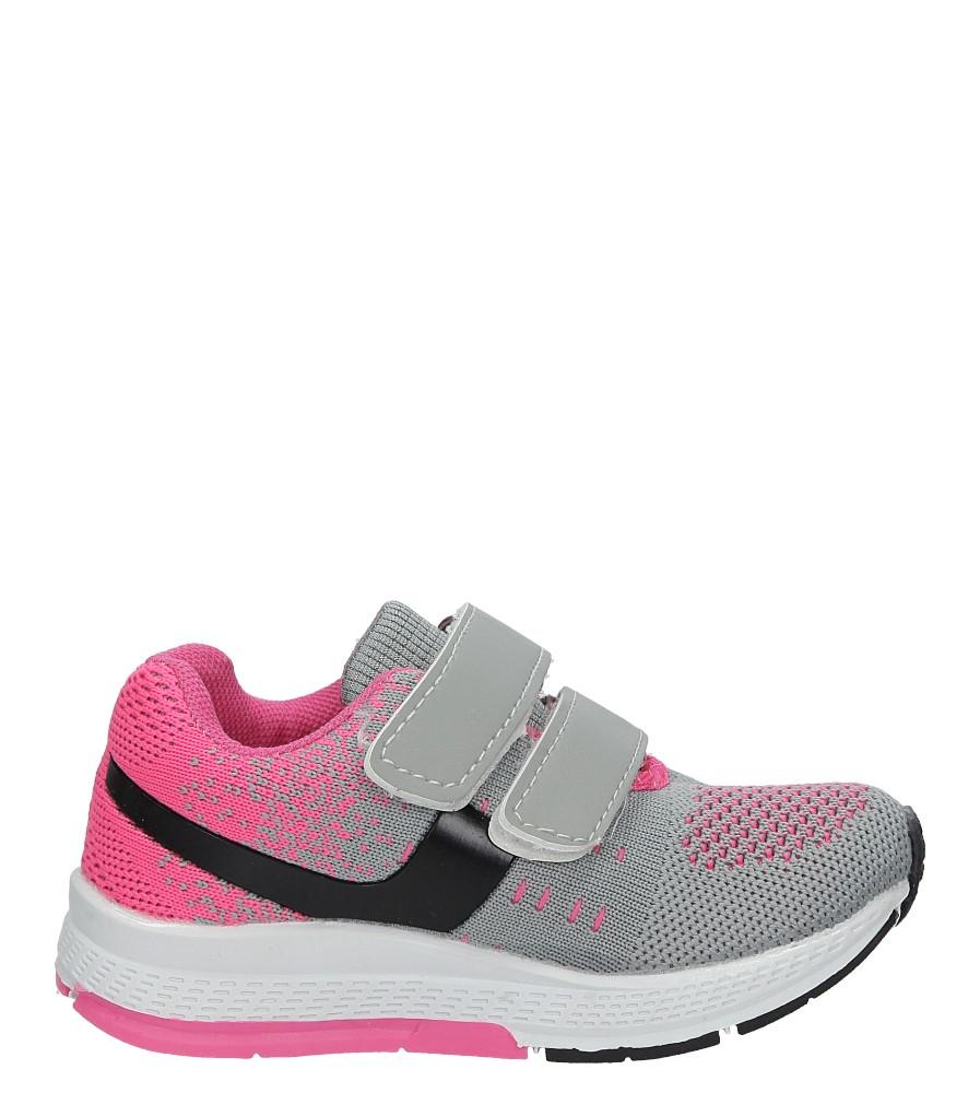 Szare buty sportowe na rzepy Casu 3A-YF86170 jasny szary