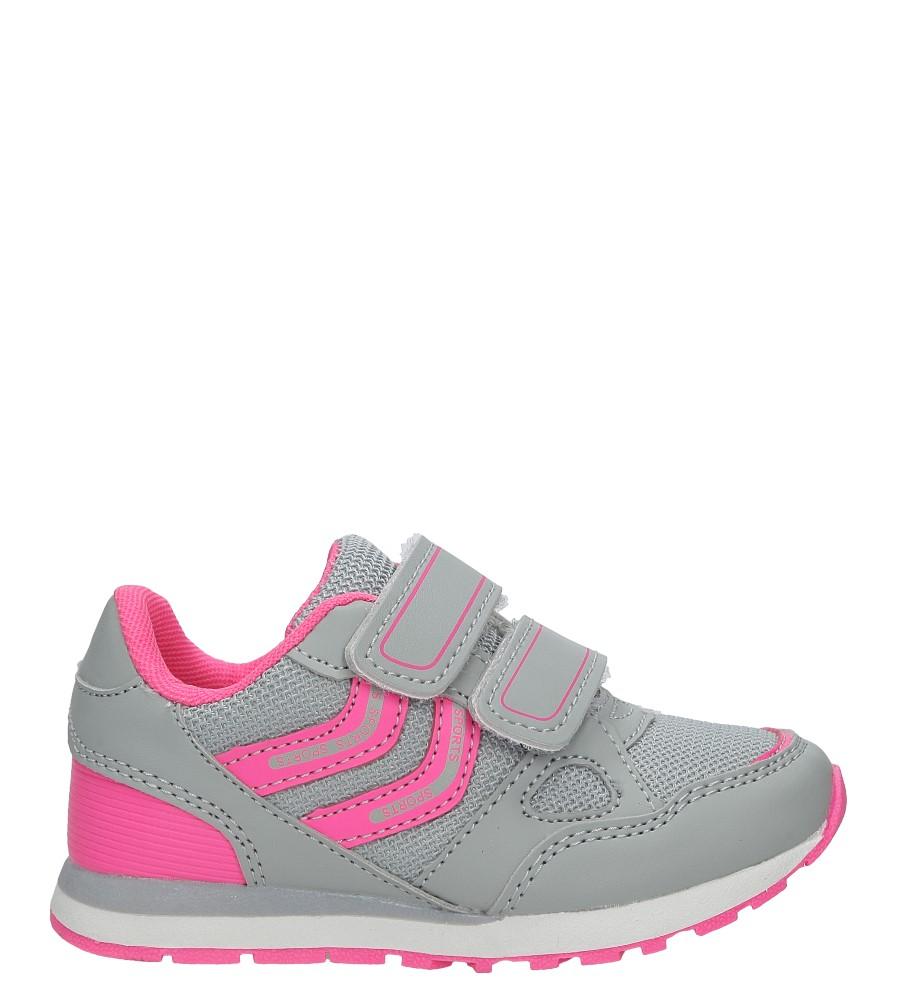 Szare buty sportowe na rzepy Casu 5875A jasny szary