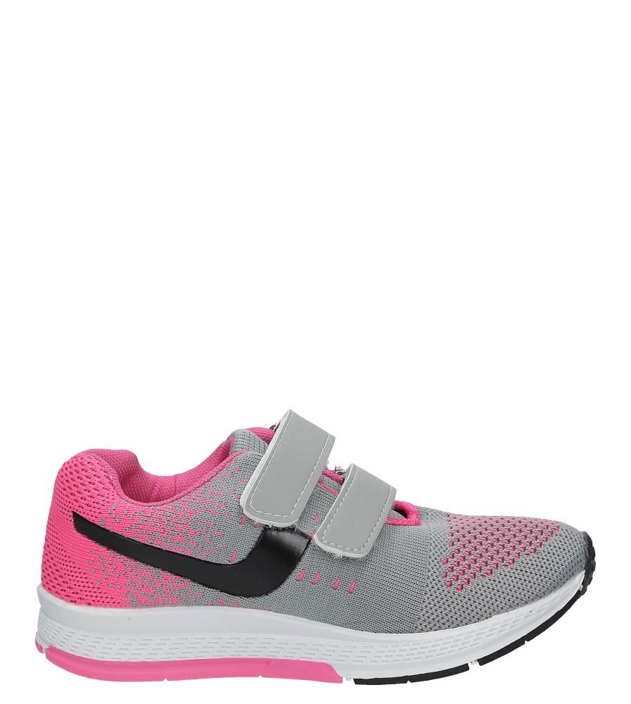 Szare buty sportowe na rzepy Casu 5A-YF86170