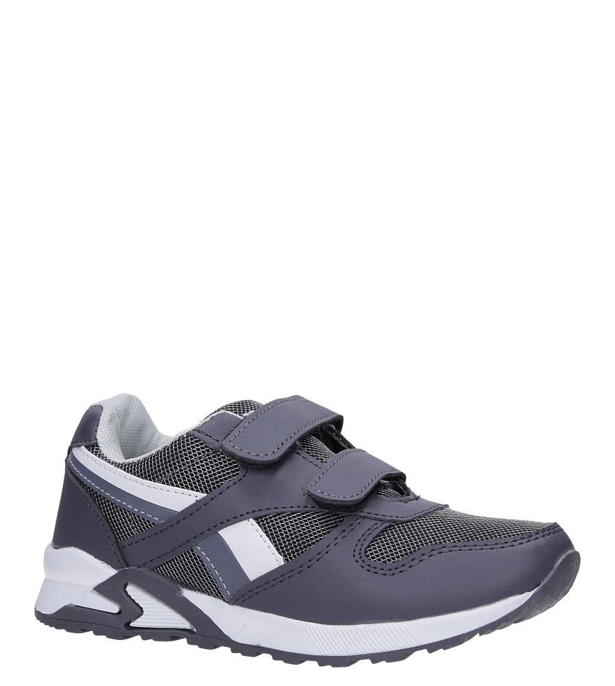 Szare buty sportowe na rzepy Casu 723C