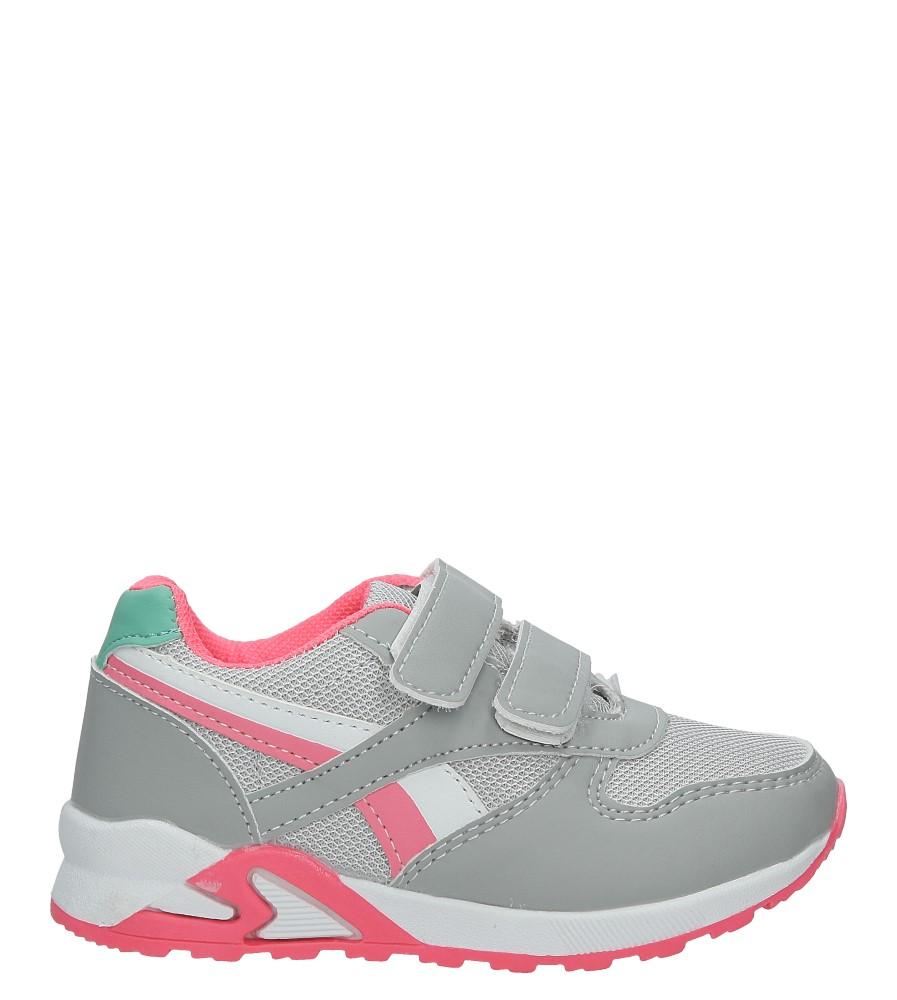 Szare buty sportowe na rzepy Casu 723D-1