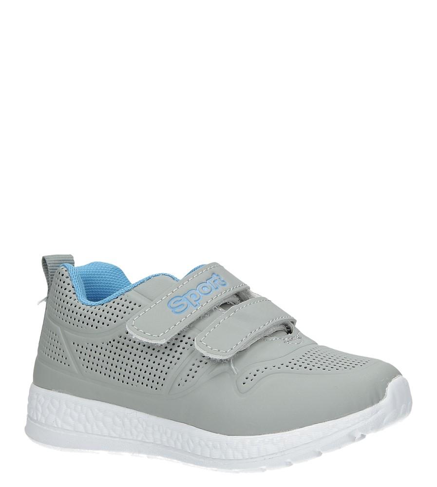 Szare buty sportowe na rzepy Casu A2803-22