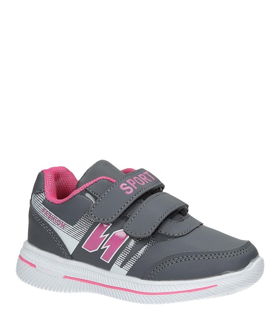 Szare buty sportowe na rzepy Casu A2857-22