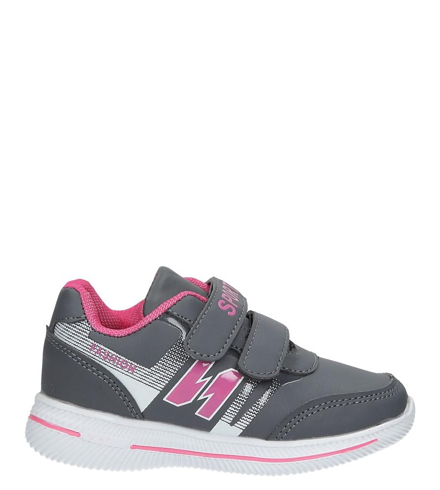 Szare buty sportowe na rzepy Casu A2857-22 model A2857-22