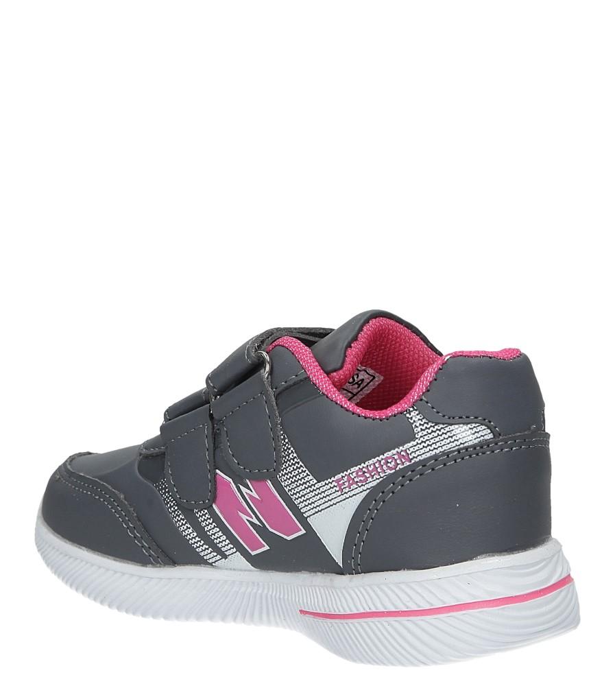 Szare buty sportowe na rzepy Casu A2857-22 sezon Całoroczny