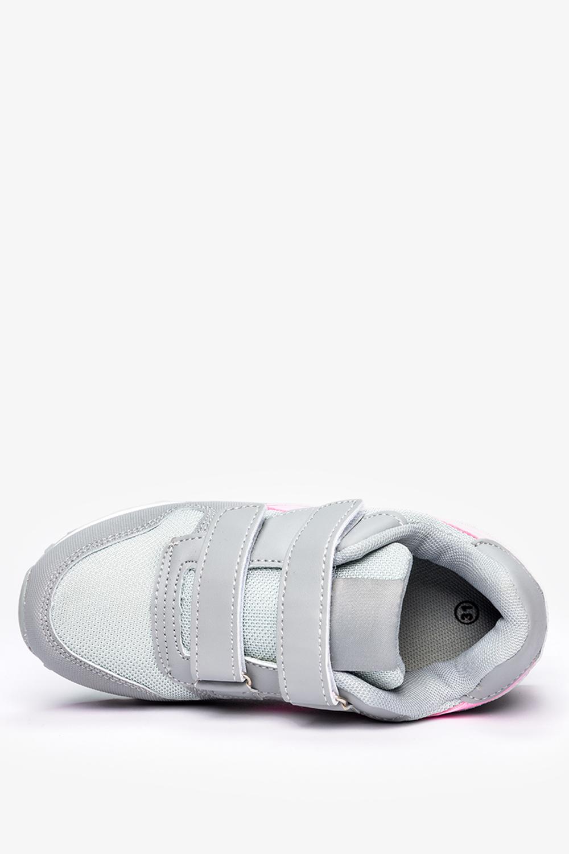 Szare buty sportowe na rzepy Casu C912
