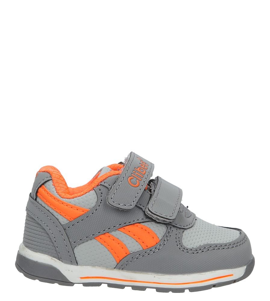 Szare buty sportowe na rzepy Casu F-682