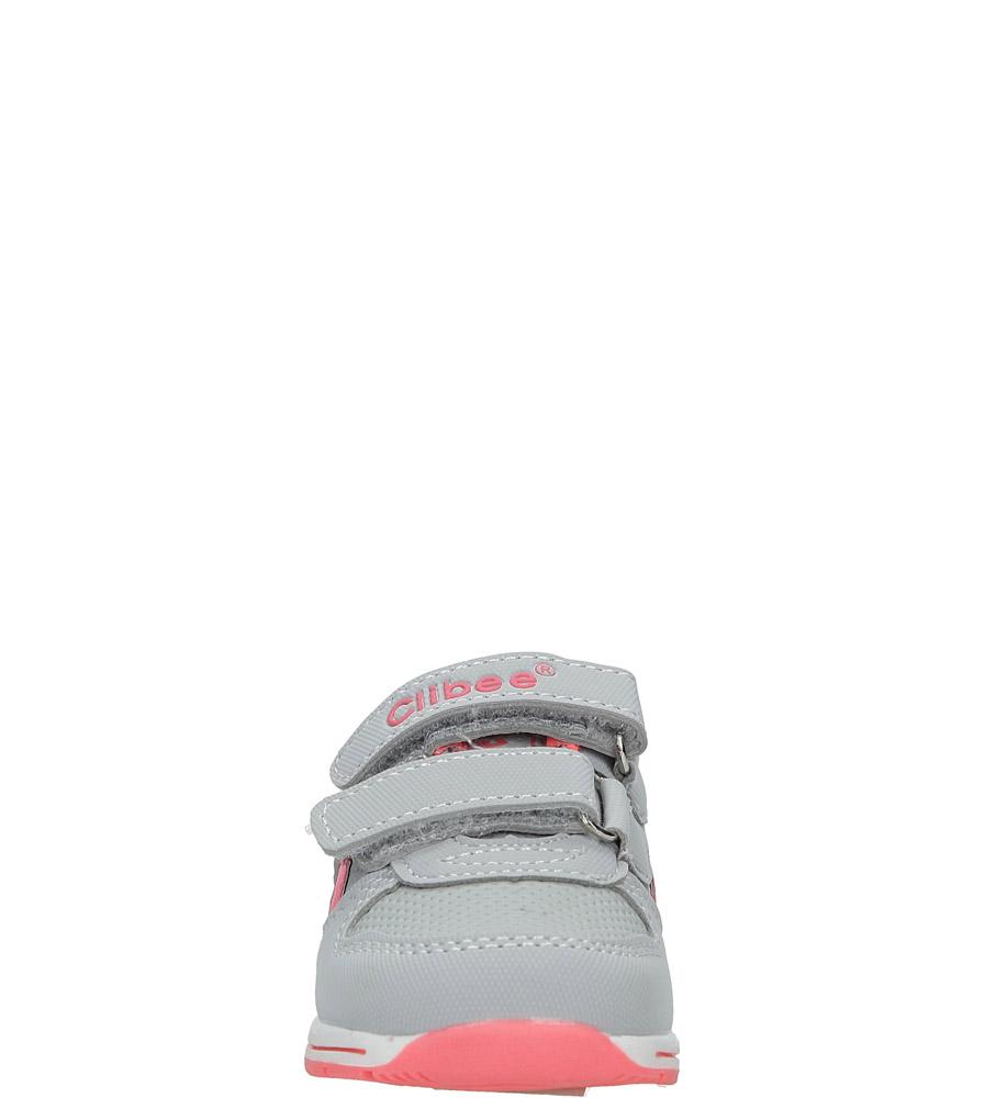 Szare buty sportowe na rzepy Casu F-682 sezon Całoroczny
