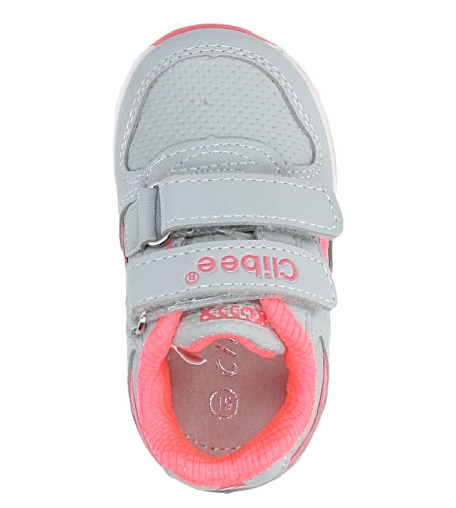 Szare buty sportowe na rzepy Casu F-682 wysokosc_platformy 1 cm
