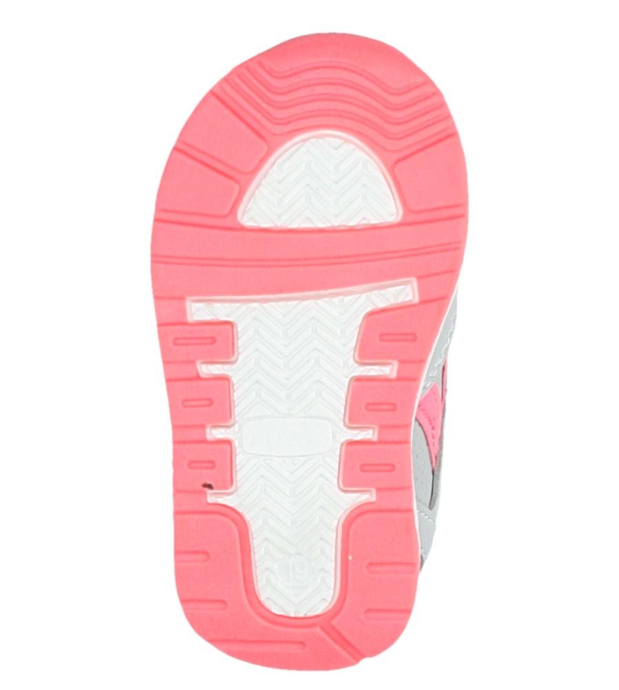 Szare buty sportowe na rzepy Casu F-682 wys_calkowita_buta 6 cm