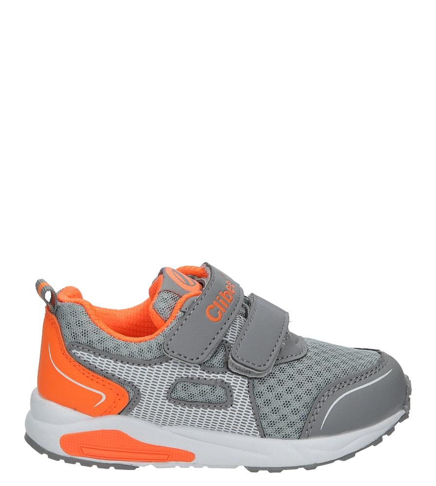 Szare buty sportowe na rzepy Casu F-691