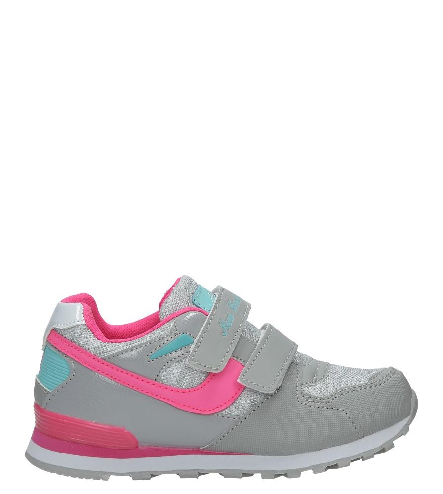 Szare buty sportowe na rzepy Casu FA325L