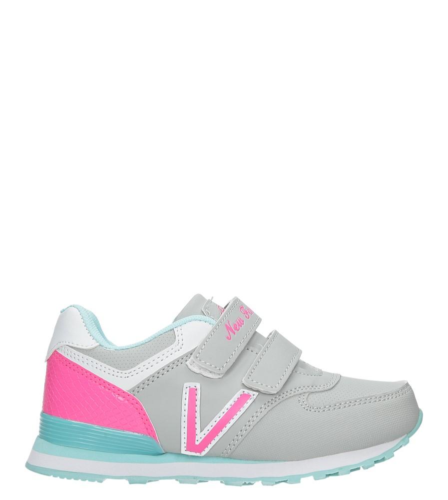 Szare buty sportowe na rzepy Casu FA334N