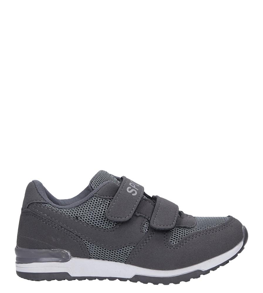 Szare buty sportowe na rzepy Casu HB-201B