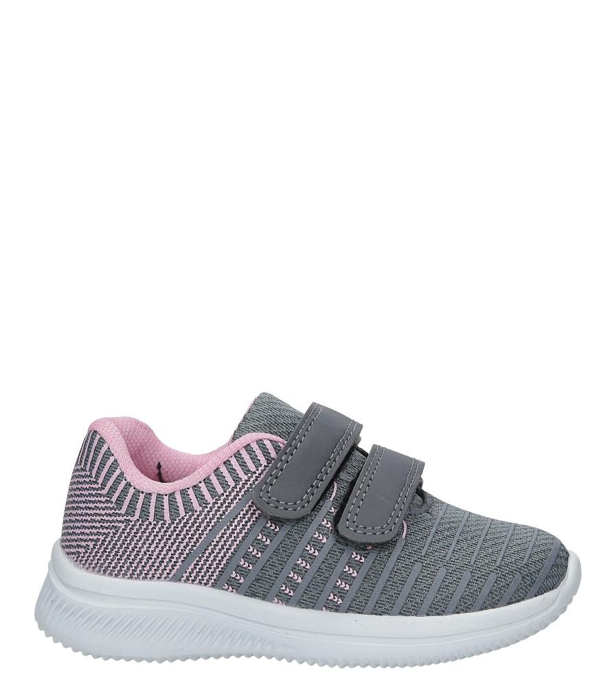 Szare buty sportowe na rzepy Casu HY-L06
