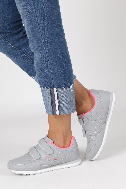 Szare buty sportowe na rzepy Casu LXC7383
