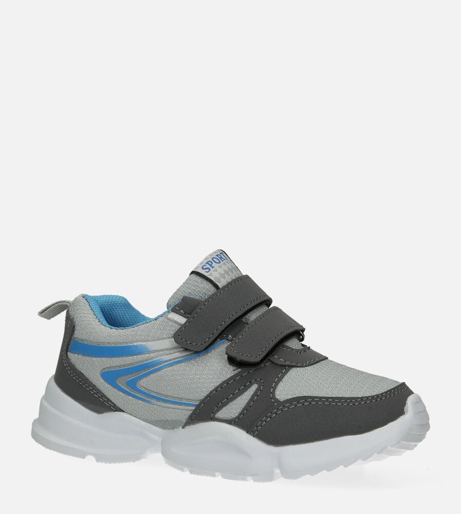 Szare buty sportowe na rzepy Casu NC20-675 model NC20-675