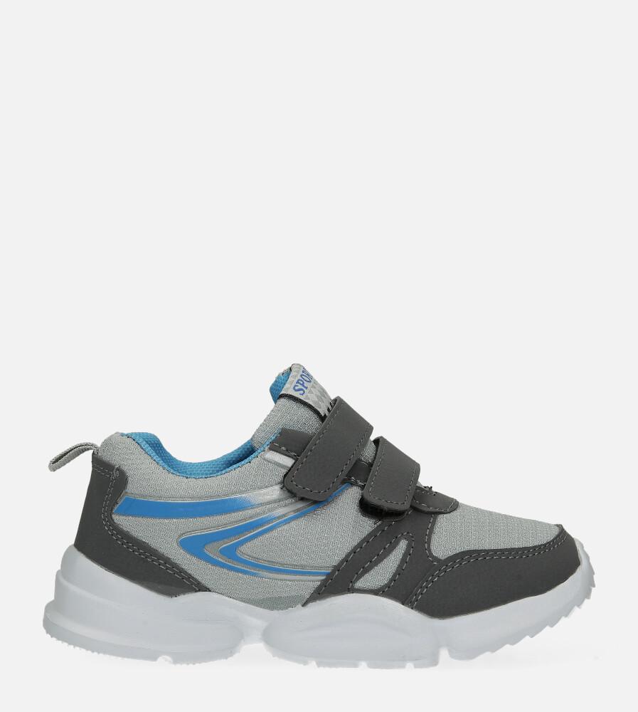 Szare buty sportowe na rzepy Casu NC20-675 sezon Całoroczny