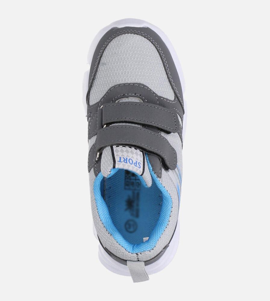 Szare buty sportowe na rzepy Casu NC20-675 wysokosc_obcasa 3 cm