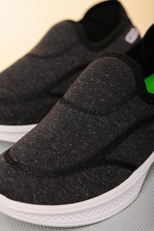 Szare buty sportowe slip on Casu 204/1DG  ciemny szary