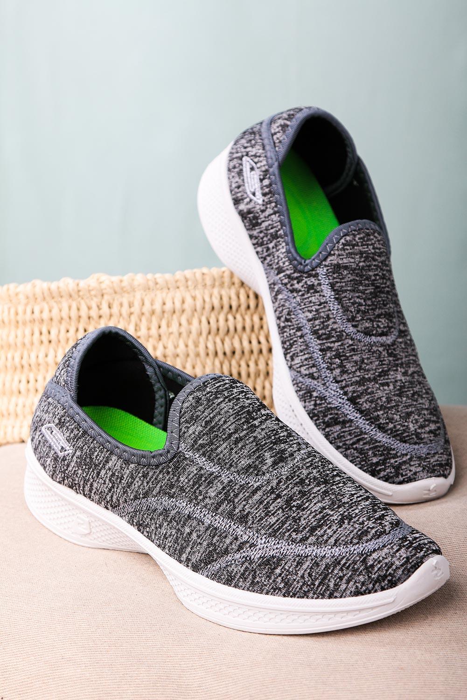 Szare buty sportowe slip on Casu 204/1G  szary