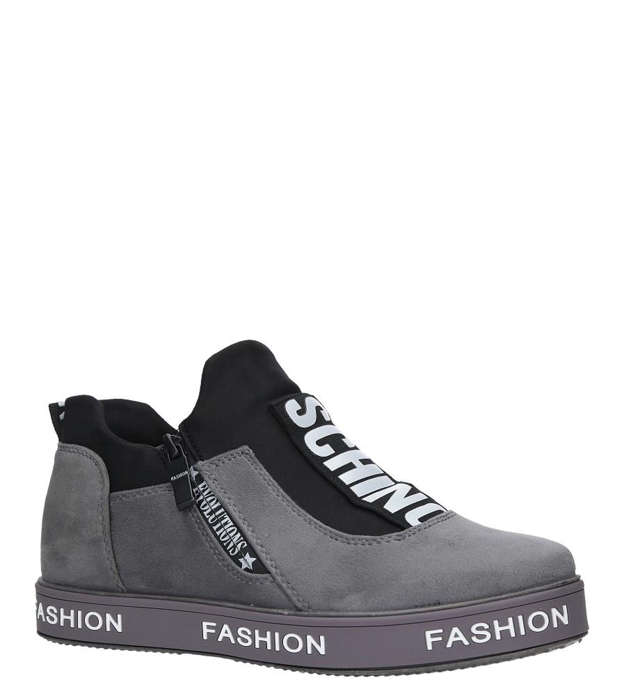Szare buty sportowe sneakersy Casu PB-2 szary