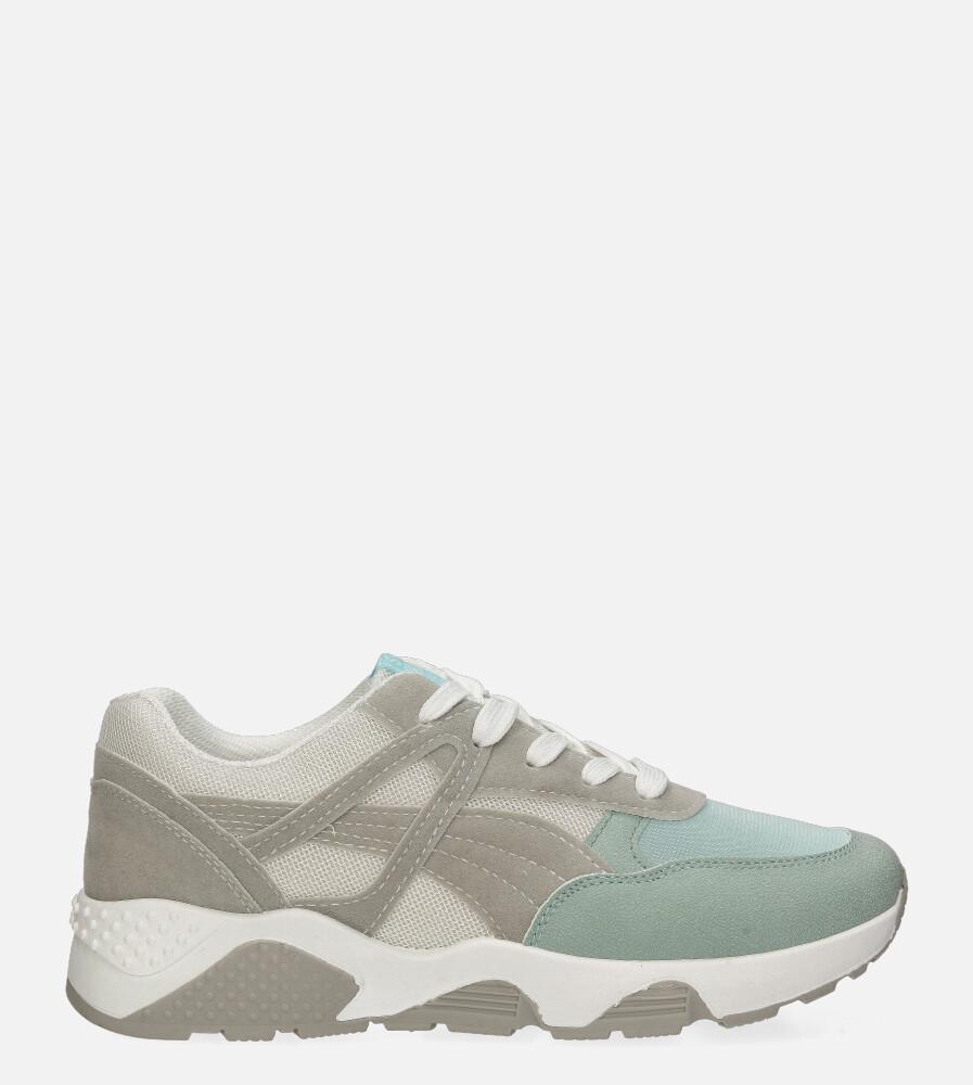 Szare buty sportowe sneakersy sznurowane Casu 20G13/BL szary