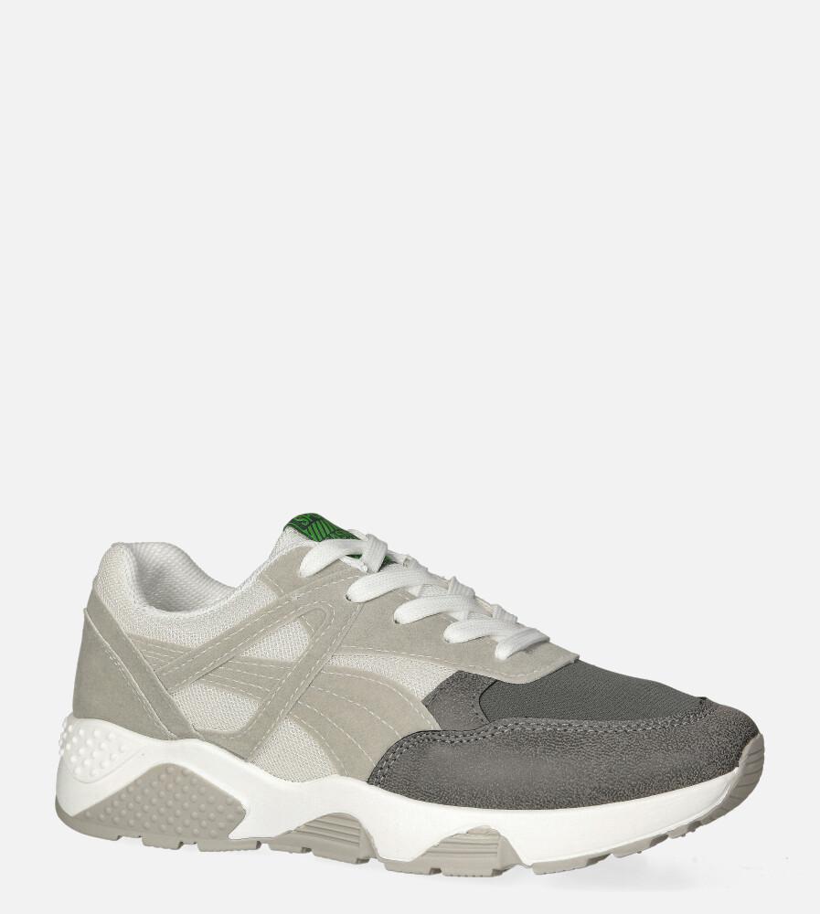 Szare buty sportowe sneakersy sznurowane Casu 20G13/G szary