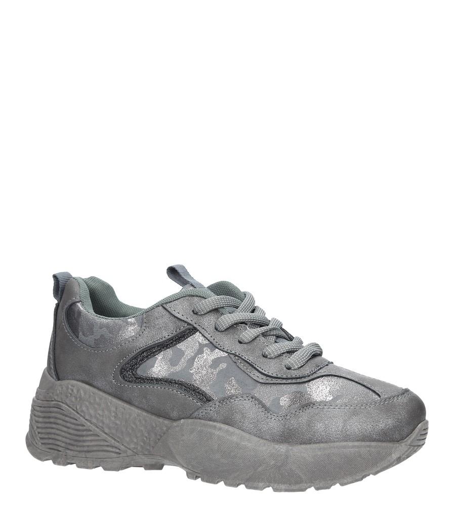Szare buty sportowe sneakersy sznurowane Casu 7-K591B