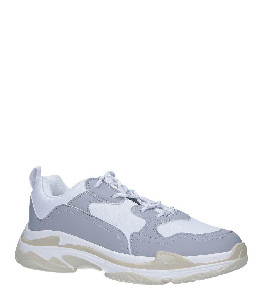 Szare buty sportowe sneakersy sznurowane Casu DS8141-5 szary