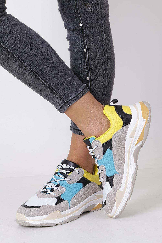 Szare buty sportowe sneakersy sznurowane Casu DS8141-6 szary
