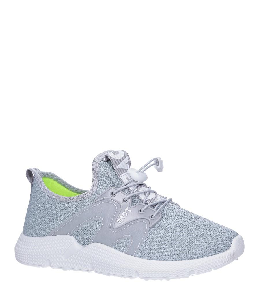 Szare buty sportowe sznurowane Casu 122A jasny szary