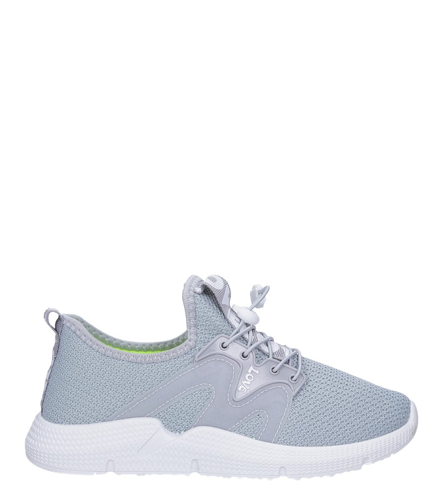 Szare buty sportowe sznurowane Casu 122A