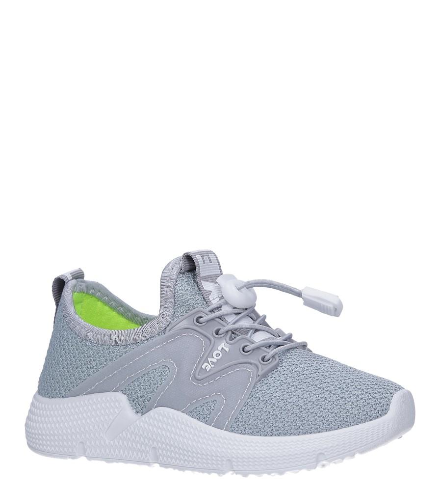 Szare buty sportowe sznurowane Casu 122B