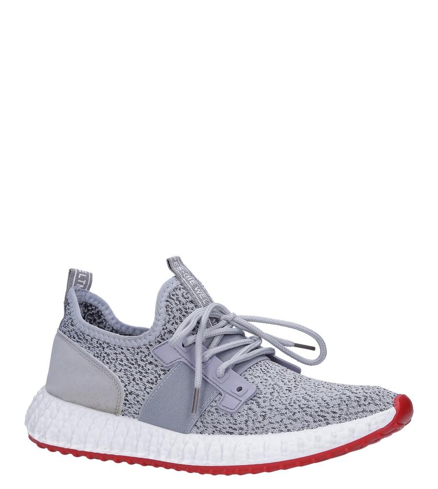 Szare buty sportowe sznurowane Casu 169