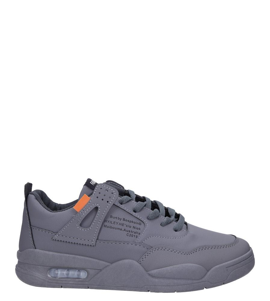 Szare buty sportowe sznurowane Casu 193