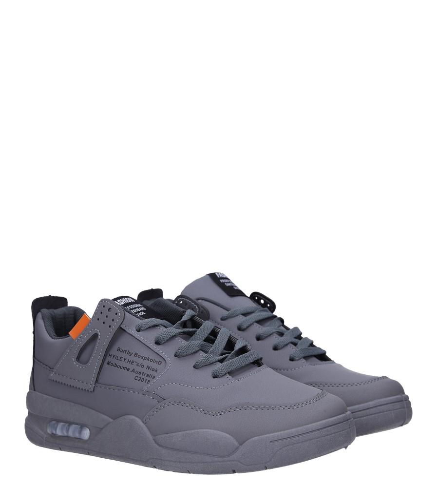 Szare buty sportowe sznurowane Casu 193 kolor szary
