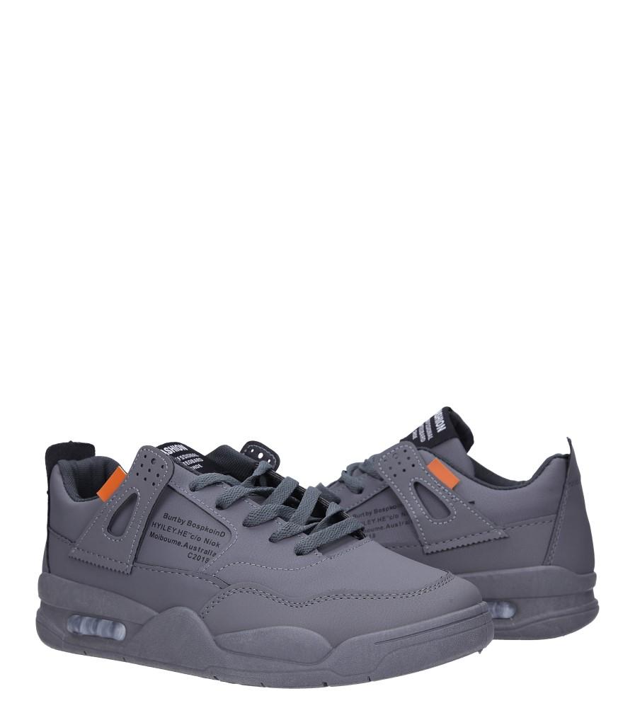 Szare buty sportowe sznurowane Casu 193 wysokosc_platformy 2 cm