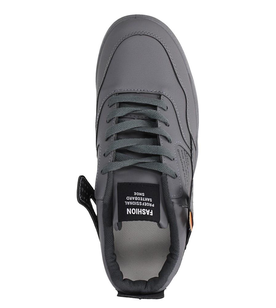 Szare buty sportowe sznurowane Casu 193 wys_calkowita_buta 12.5 cm
