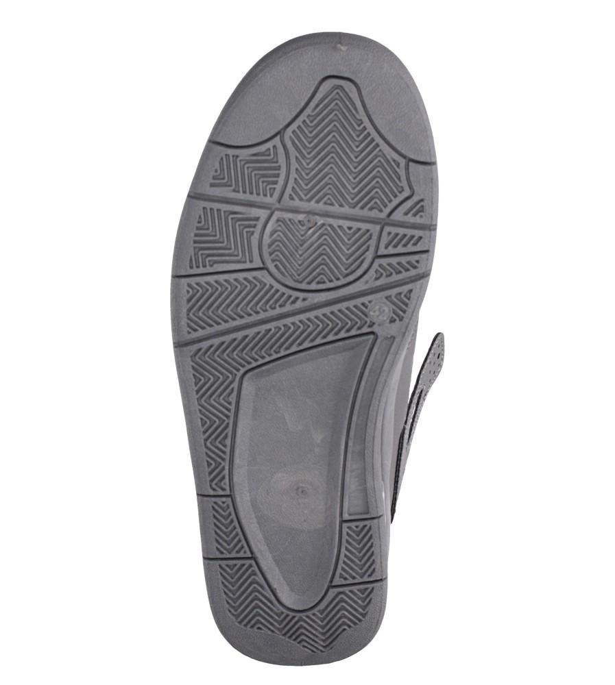 Szare buty sportowe sznurowane Casu 193 wierzch skóra ekologiczna