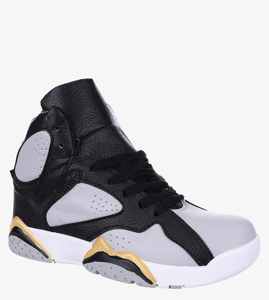 Szare buty sportowe sznurowane Casu 201B/G szary