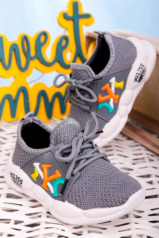 Szare buty sportowe sznurowane Casu 204/23M  szary