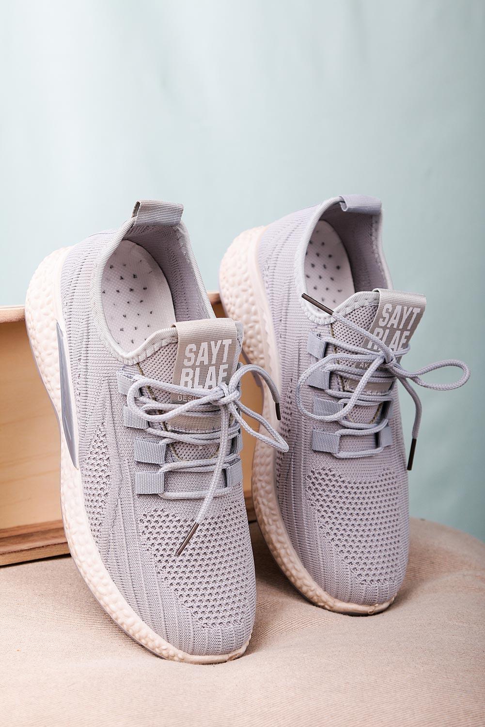 Szare buty sportowe sznurowane Casu 204/42G szary
