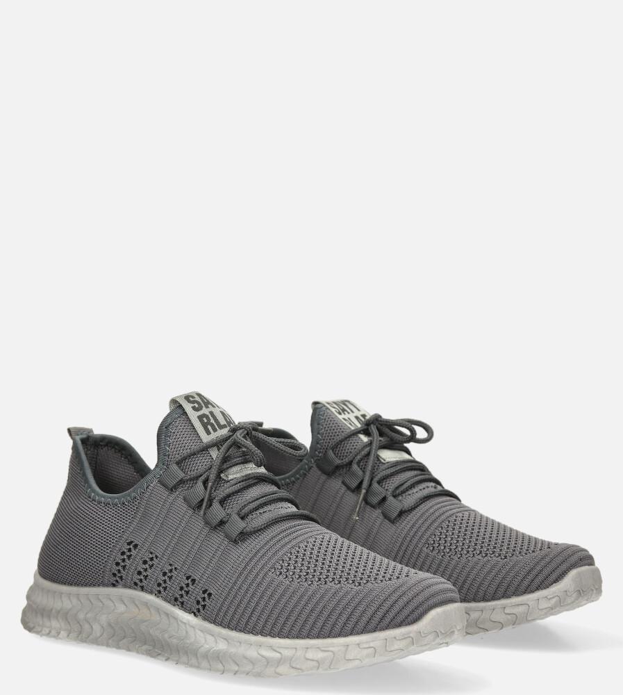 Szare buty sportowe sznurowane Casu 204/5G producent Casu