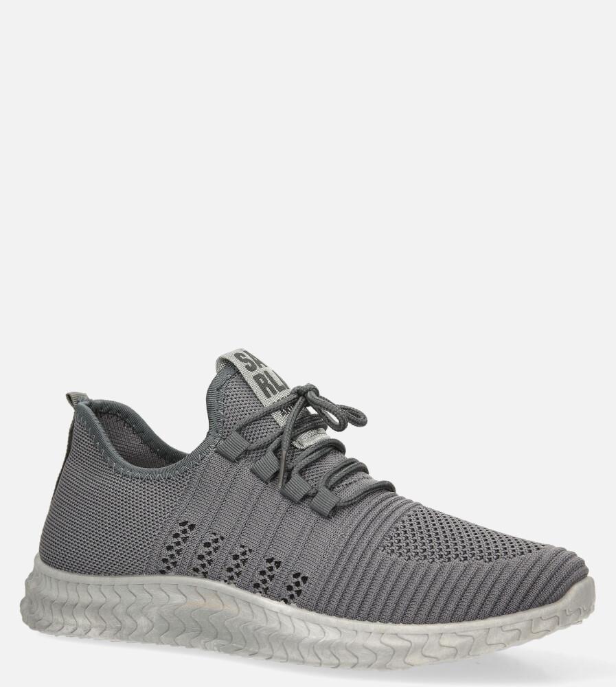 Szare buty sportowe sznurowane Casu 204/5G sezon Całoroczny